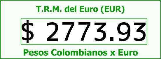 T.R.M. del Euro para hoy Jueves 2 de Abril de 2015