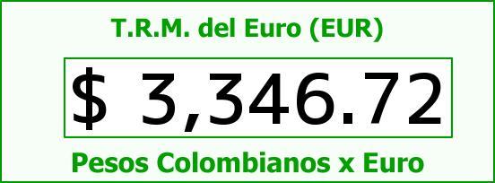 T.R.M. del Euro para hoy Jueves 20 de Agosto de 2015