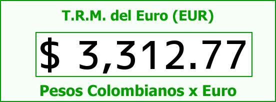 T.R.M. del Euro para hoy Jueves 21 de Abril de 2016