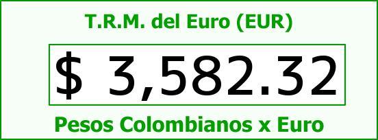 T.R.M. del Euro para hoy Jueves 21 de Enero de 2016