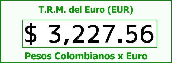 T.R.M. del Euro para hoy Jueves 21 de Julio de 2016