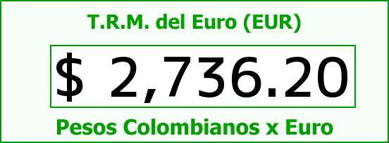 T.R.M. del Euro para hoy Jueves 22 de Enero de 2015