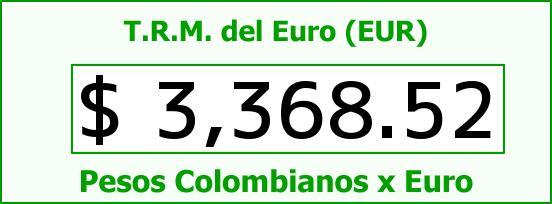 T.R.M. del Euro para hoy Jueves 22 de Octubre de 2015