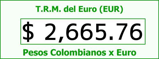 T.R.M. del Euro para hoy Jueves 23 de Abril de 2015