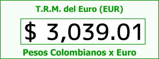 T.R.M. del Euro para hoy Jueves 23 de Julio de 2015