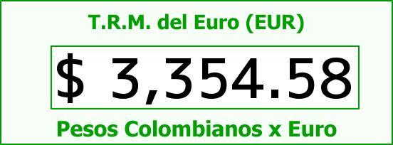 T.R.M. del Euro para hoy Jueves 23 de Junio de 2016