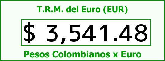 T.R.M. del Euro para hoy Jueves 24 de Diciembre de 2015