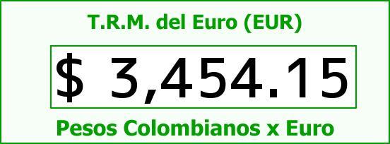 T.R.M. del Euro para hoy Jueves 24 de Septiembre de 2015