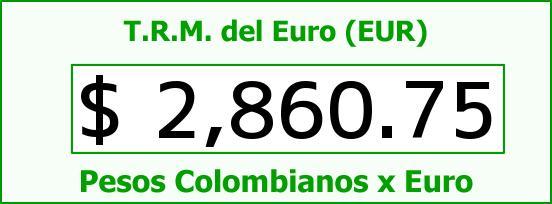T.R.M. del Euro para hoy Jueves 25 de Diciembre de 2014