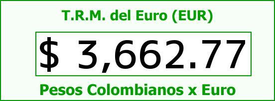 T.R.M. del Euro para hoy Jueves 25 de Febrero de 2016