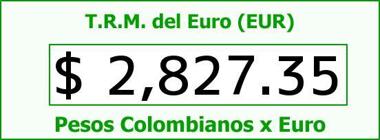 T.R.M. del Euro para hoy Jueves 26 de Febrero de 2015