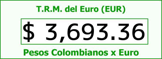T.R.M. del Euro para hoy Jueves 27 de Agosto de 2015