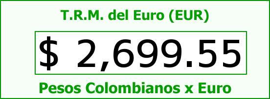 T.R.M. del Euro para hoy Jueves 27 de Noviembre de 2014