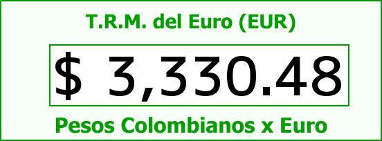 T.R.M. del Euro para hoy Jueves 28 de Abril de 2016
