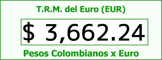 T.R.M. del Euro para hoy Jueves 28 de Enero de 2016