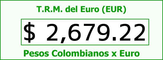 T.R.M. del Euro para hoy Jueves 29 de Enero de 2015