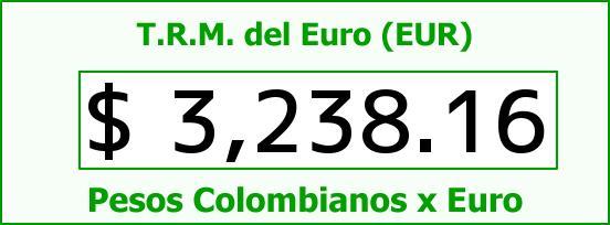 T.R.M. del Euro para hoy Jueves 29 de Octubre de 2015