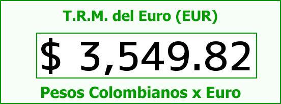 T.R.M. del Euro para hoy Jueves 3 de Marzo de 2016