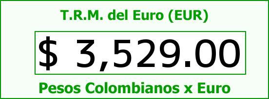 T.R.M. del Euro para hoy Jueves 3 de Septiembre de 2015