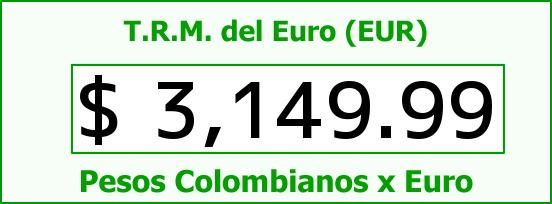 T.R.M. del Euro para hoy Jueves 30 de Julio de 2015
