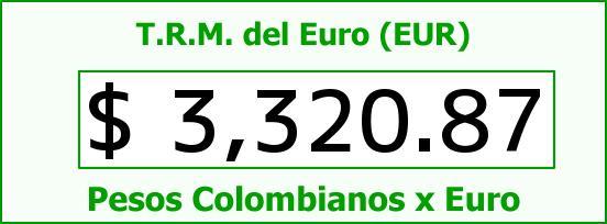 T.R.M. del Euro para hoy Jueves 30 de Junio de 2016