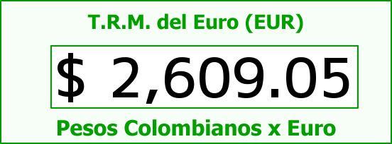 T.R.M. del Euro para hoy Jueves 30 de Octubre de 2014