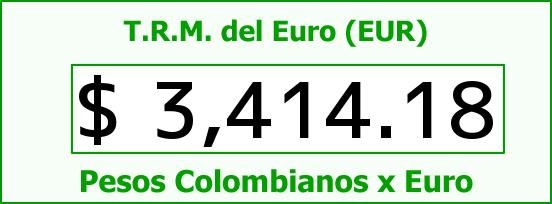 T.R.M. del Euro para hoy Jueves 31 de Marzo de 2016