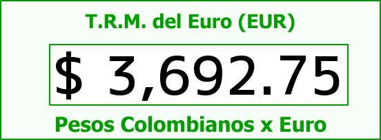 T.R.M. del Euro para hoy Jueves 4 de Febrero de 2016