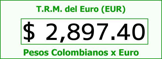 T.R.M. del Euro para hoy Jueves 4 de Junio de 2015