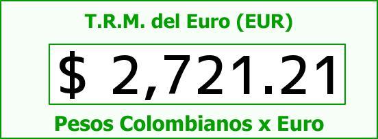 T.R.M. del Euro para hoy Jueves 5 de Febrero de 2015