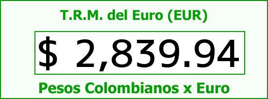 T.R.M. del Euro para hoy Jueves 5 de Marzo de 2015