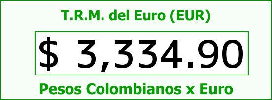 T.R.M. del Euro para hoy Jueves 5 de Mayo de 2016
