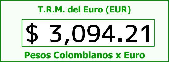 T.R.M. del Euro para hoy Jueves 5 de Noviembre de 2015
