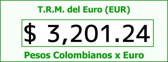 T.R.M. del Euro para hoy Jueves 6 de Agosto de 2015