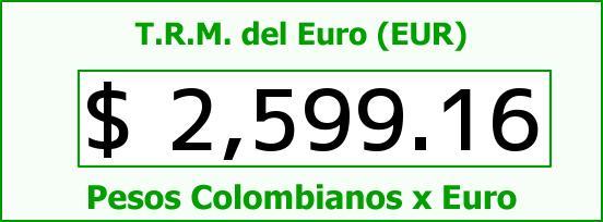 T.R.M. del Euro para hoy Jueves 6 de Noviembre de 2014