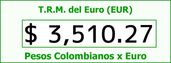 T.R.M. del Euro para hoy Jueves 7 de Abril de 2016
