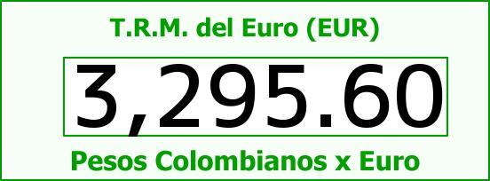 T.R.M. del Euro para hoy Jueves 7 de Julio de 2016