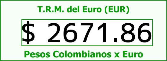 T.R.M. del Euro para hoy Jueves 7 de Mayo de 2015