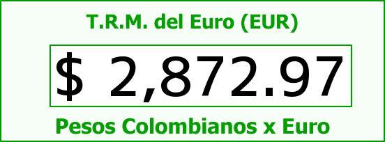 T.R.M. del Euro para hoy Jueves 8 de Enero de 2015