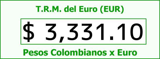 T.R.M. del Euro para hoy Jueves 8 de Octubre de 2015