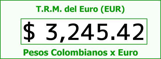 T.R.M. del Euro para hoy Jueves 8 de Septiembre de 2016