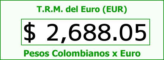 T.R.M. del Euro para hoy Jueves 9 de Abril de 2015