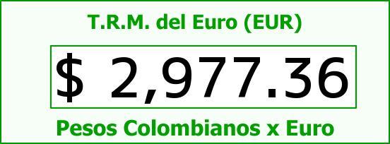 T.R.M. del Euro para hoy Jueves 9 de Julio de 2015
