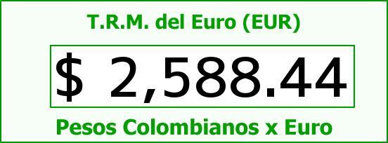 T.R.M. del Euro para hoy Jueves 9 de Octubre de 2014