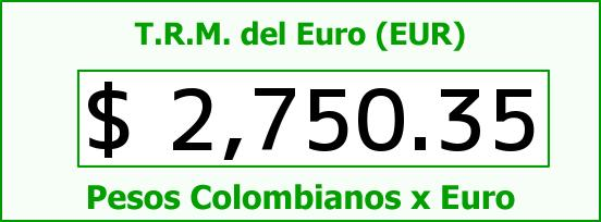 T.R.M. del Euro para hoy Lunes 1 de Diciembre de 2014