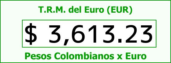 T.R.M. del Euro para hoy Lunes 1 de Febrero de 2016
