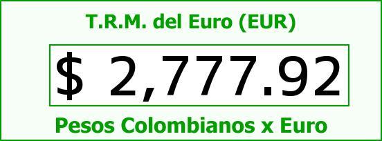 T.R.M. del Euro para hoy Lunes 1 de Junio de 2015