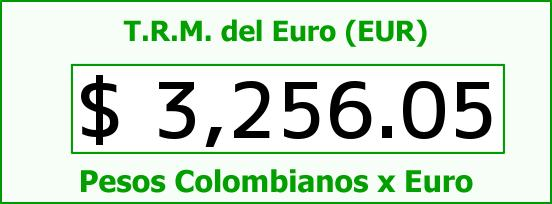 T.R.M. del Euro para hoy Lunes 12 de Octubre de 2015