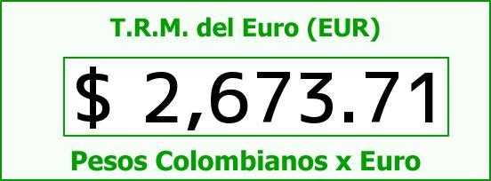 T.R.M. del Euro para hoy Lunes 13 de Abril de 2015