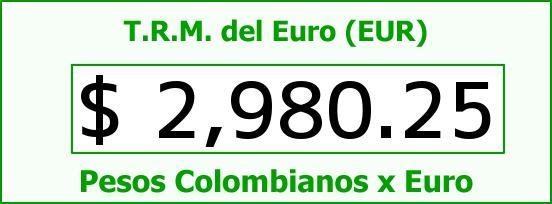 T.R.M. del Euro para hoy Lunes 13 de Julio de 2015